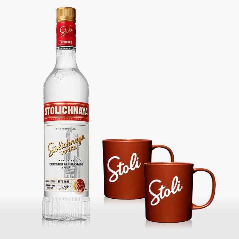 My stoli vodka και κούπες δώρο